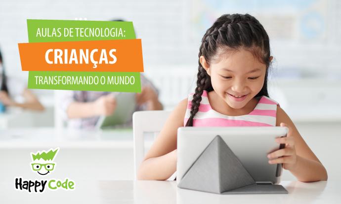 Aulas de tecnologia ajudam crianças a tornar o mundo melhor
