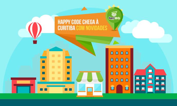 Happy Code chega em Curitiba – PR com novidades nos cursos