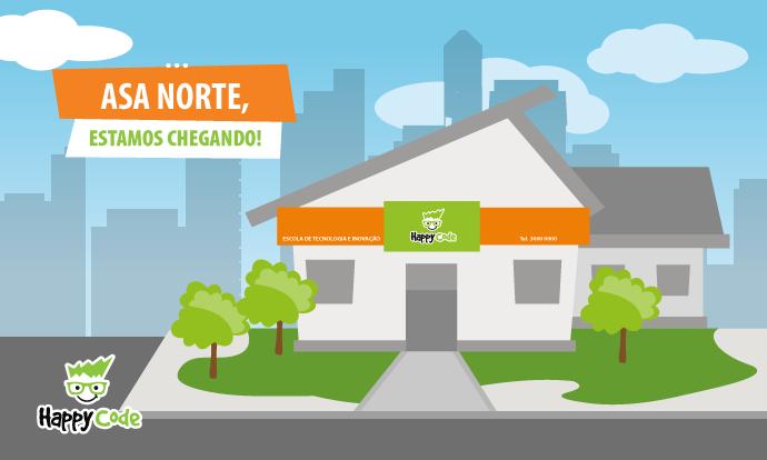 Happy Code continua em expansão e chega em breve a Asa Norte, em Brasília, com os melhores cursos de tecnologia e inovação
