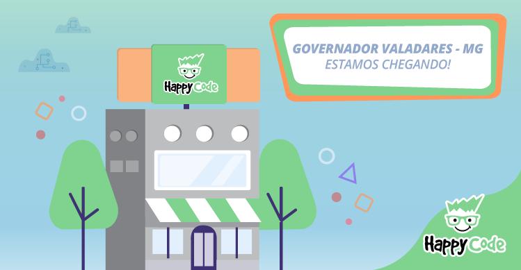 Happy Code continua em expansão e chega em breve a Governador Valadares, com os melhores cursos de tecnologia e inovação